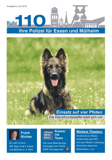 Ruhr110 - Ihre Polizei in Essen und Mülheim - Ausgabe 2 / Juni 2016