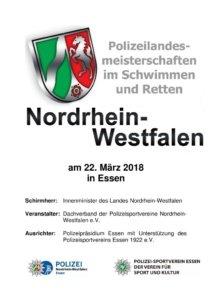 Polizeilandesmeisterschaften im Schwimmen und Retten am 22. März 2018 in Essen