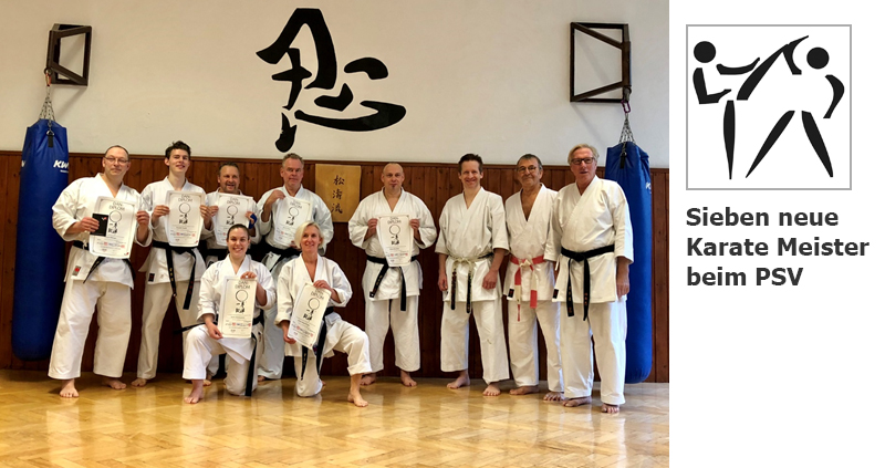 Sieben neue Karate Meister beim PSV Essen